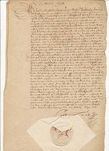 Historiskt dokument om Mönsterås från 1600-talet.